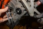 Custom tool for water pump impeller
