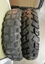 Old vs. new tire