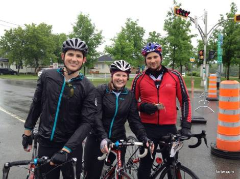 My brother and sister outdid themselves to complete the 135km under the rain!