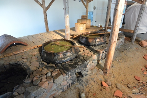 Red bay interpretation center - cooking whale oil