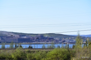 Iron ore mine in Labrador City