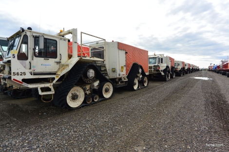 Snow truck army
