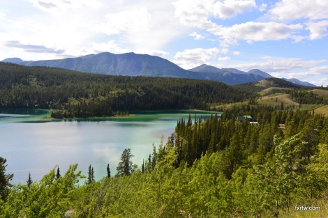 Emerald lake - notice the color variations in the lake