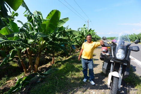Victor with the banana trees