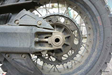 Worn rear sprocket